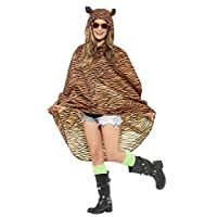 Animals Festival Adult Fancy Dress Club Party Tiger Printed Party Poncho