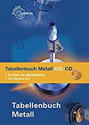 Tabellenbuch Metall XXL CD: Tabellenbuch, Formelsammlung und CD Tabellenbuch Metall 8.0