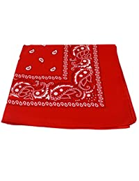 dfad55de672f Bandana Foulard Paisley Rouge 100% Coton 55 x 55cm