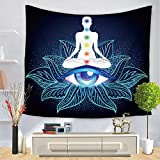 Dqianyu Tapestry Wall Hanging,Decorazione da Parete psichedelica,Indian Buddha Printing Home Tapestry-A02_130 × 150cm