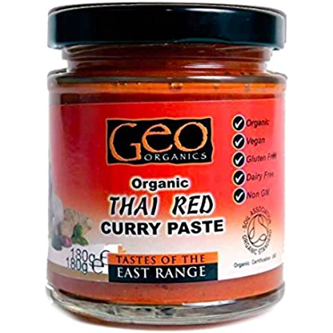Geo Organics | Thai Red Curry Paste Og | 6 x 180G
