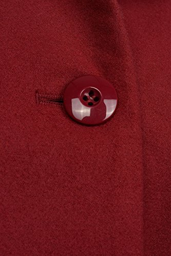 Jacquardmantel Mantel Damen von melrose in Bordeaux Rot