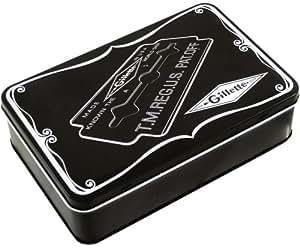 Gillette Retro-Aufbewahrungsbox für Rasierer und Klingen, in schwarz