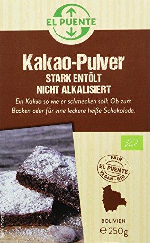 El Puente Kakao-Pulver, 3er Pack (3 x 250 g) - Bio
