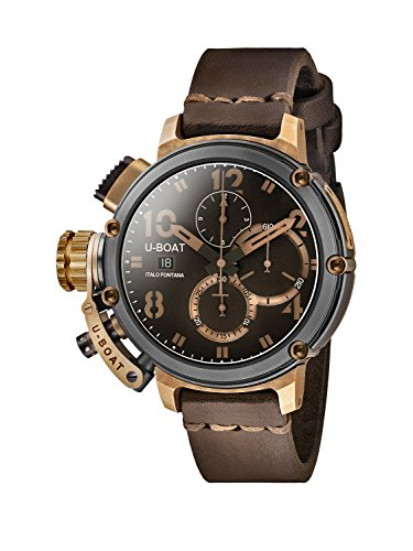 U-Boat-Chimera-46mm-Mens-Automatic-Watch-with-Brown-Dial-Chronograph-Display-and-Brown-Leather-Strap-74750