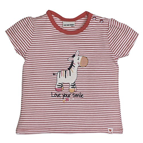 27a2d10ade097 SALT AND PEPPER Baby-Mädchen B T-Shirt Love Stripe Smile, Rosa (