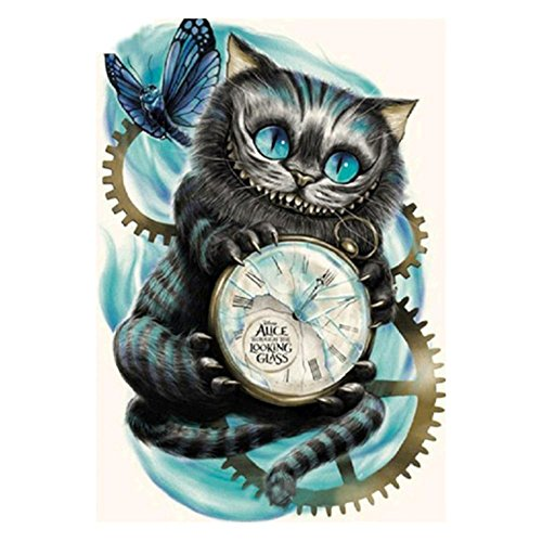 Globeagle DIY Diamond Painting Cross Stitch Cat Clock Embroidery Patchwork Mosaic Kit
