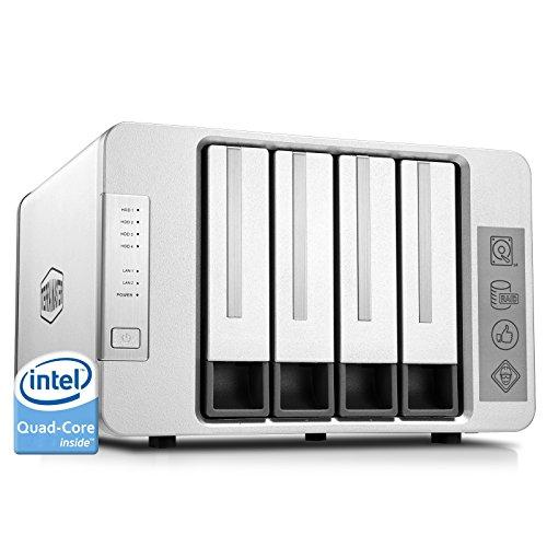 TerraMaster F4-420 NAS Server 4-Bay Persönlicher Cloud mit Intel-Quad-Core 2,0GHz CPU 4GB-Speicher Raid Festplattengehäuse Kleiner Geschäfts- Oder Privat-Cloudspeicher (Diskless)