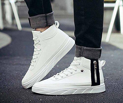 Hommes Sneakers Salut-top Chaussures 2017 Automne Nouveau Bas De Lecture Chaussures De Sport Casual Respirant Blanc