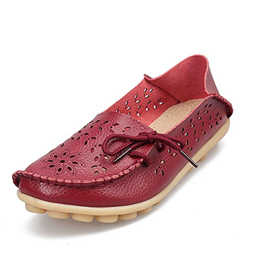 Tunnel Casual Grande Taille Chaussures Plates DarkRed