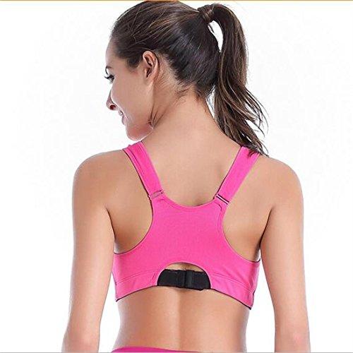 Glield Active Zippé Plunge Support Dos Nageur Femme Soutien Gorge De Sports red
