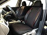 Sitzbezüge K-Maniac für BMW X1 E84 | Universal schwarz-rot | Autositzbezüge Set Vordersitze | Autozubehör Innenraum | Auto Zubehör Kunstleder | V1204772 | Kfz Tuning | Sitzbezug | Sitzschoner