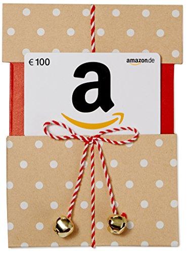 Amazon.de Geschenkgutschein in Geschenkkuvert - 100 EUR (Beige mit Punkten)