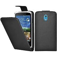 HTC Desire 526G Dual Sim Funda Caso - Negro Pu Flip Funda Cuero Case Para El HTC Desire 526G Dual Sim - thinkmobile