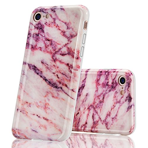 Cover per iPhone 6 Plus, Bonice TPU Gel Silicone Protettivo Custodia Case Cover Per iPhone 6 Plus/ iPhone 6S Plus - Viola Creativo 09