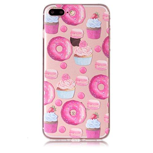 iPhone 7 Plus Hülle, Voguecase Silikon Schutzhülle / Case / Cover / Hülle / TPU Gel Skin für Apple iPhone 7 Plus/iPhone 8 Plus 5.5(Viele Katzen 08) + Gratis Universal Eingabestift Candy Dessert 01