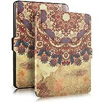 PIXNOR Cubierta protectora de cuero genuino con Auto despertar o dormir para Amazon Kindle Paperwhite(Tribal Style)