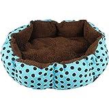 Ularma Casa de mascota, cálido nido acogedor felpa cama Mat (36cm X 30cm, azul)