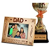 Tied Ribbons Fathers Day Special Gifts For Dad | Gift For Father In Law | Fathers Day Gifts | Personalized Photo Frame(27 X 22) Cm With Trophy