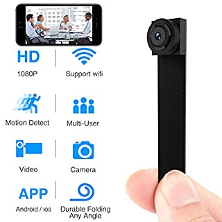 Spy Hidden Camera, Wireless Wi-Fi Mini Camera 1080P APP Portable Covert Security Cam Motion Detection for iOS/Android Mobile Phone Product ID: 58DE2CDFFDADE2FA