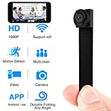 Spy Hidden Camera, Wireless Wi-Fi Mini Camera 1080P APP Portable Covert Security Cam