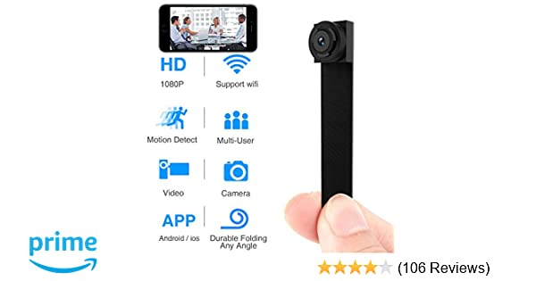 Spy Hidden Camera, Wireless Wi-Fi Mini Camera 1080P APP Portable Covert  Security Cam Motion Detection for iOS/Android Mobile Phone Product ID: