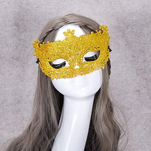 Ingenieur Kleiner Kostüm Kinder - WANG XIN Karneval Maske-luxuriöse Filigrane Hohle kleine Fox Fairy Gold Pulver Kleid Party Performance Mask Maskerade Masken-Kostüm Cosplay Maske for Masquerade Ball, Karneval, Halloween Kostüm Party