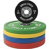 GORILLA SPORTS® Olympia-Hantelscheiben 50/51 mm Urethan - Bumper Plates in 5 Farb- und Gewichtsvarianten 5-25 kg