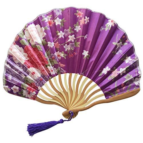 Chinesisches Braut Fächer Hochzeit Handfächer Japanischer Klapp Bambus Fan-hölzernes Handgemachtes Vorzügliches Festival Geschenk Party Cosplay Papierfächer Faltbar Papier Fächer Wohnzimmer Deko