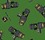 John Deere Sara als Traktor und Logo Baumwolle Stoff, grün