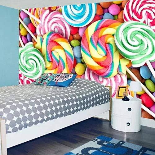3D Foto HD Baby Fototapete Tapete Zimmer Wand Kinder Lutscher Candy Full HD Wandhauptdekor