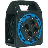 Bachmann 393.006 Enrouleur de câble électrique 4 prises de courant Schuko incluses 20 m