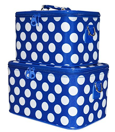 ever-moda-blue-white-polka-dot-cosmetic-makeup-train-case-2-piece-set-by-ever-moda