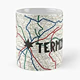 Twd The Walking Dead Tv Series Season Comic Book Rick Grimes Carl Daryl Carol Beth Michone Tyreese Zombies Apocalypse Cool Map Railroad Train Cannibals - Best 11 Ounce Ceramic Coffee Mug Gift