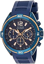 Guess Mens Quartz Watch, Analog Display and Silicone Strap W1168G4