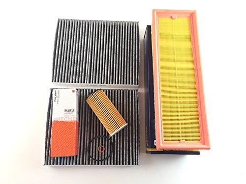 Filter Kit Inspektionsset Ölfilter Luftfilter 2x Aktivkohlefilter 5er F10 F11 518d nur 110 KW / 150 PS & 520d nur 140 KW / 190 PS