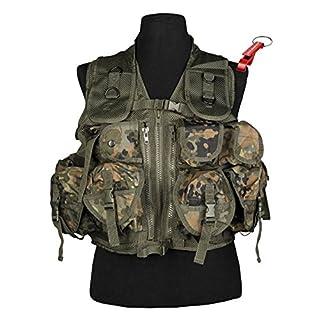 AOS-Outdoor Tactical USMC Einsatzweste 9 Taschen (BW flecktarn) Flaschenöffner
