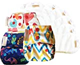 #8: Superbottoms New Born Cloth Diapers with Dry Feel (Stay dry) soakers (inserts) (VALUE PACK)