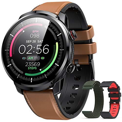 Oferta de Hommie - Reloj Inteligente para Hombre, Impermeable, IP68, Pulsera conectada, tensiómetro, oxímetro pulsómetro, podómetro, Fitness, rastreador de Actividad, para Android, iPhone Samsung y Huawei