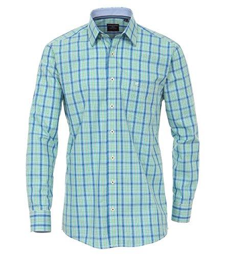 Casa Moda - Comfort Fit - Herren langarm Hemd mit Kent Kragen in verschiedenen Farben, Bügelleicht (462394200 A) Grün (300)