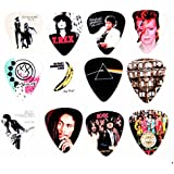 12 x Famous Album Cover Guitar Plectrums Picks Set B