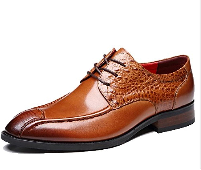 Oxford Schuhe Männer Lederschuhe Echt Schnürschuhe BusinessSchuhe Neuer Stil