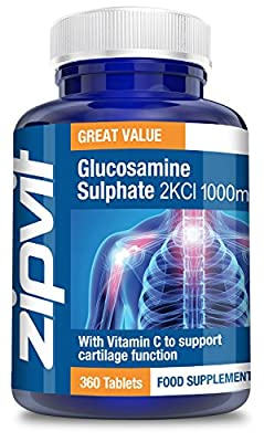 Glucosamine 2KCl 1000mg, Pack of 360 Tablets, by Zipvit Vitamins Minerals & Supplements by Zipvit