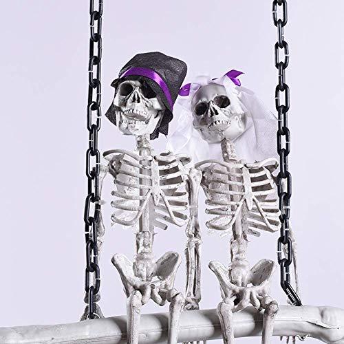 FXQ Halloween Skelett Braut und Bräutigam - Halloween Skelett Braut und Bräutigam Willkommen Haus Anhänger Dekoration, Kostüm Maske für Halloween Requisiten Party erschrecken Spielzeug Hexe (Skelett Bräutigam Kostüm)