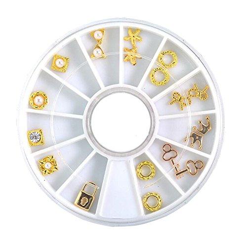Élégant roue strass nail décorations ongles décor