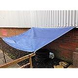 Yuzet Blue 2.4m x 3m Heavy Duty Waterproof Tarpaulin Ground Sheet Cover