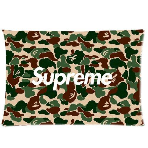 Trendsetter Pillowcase Supreme X Bape Kissenbezüge, personalisierbar, für das Zuhause, dekorativ, 40,6x 61 cm, 2-seitig bedruckt