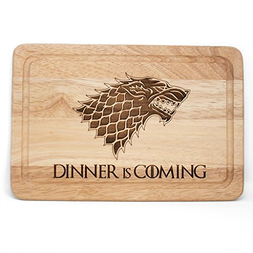 Game Of Thrones Inspirado Dinner is coming Tabla de cortar de madera