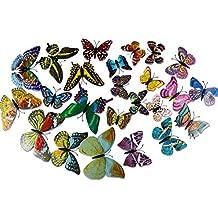 Pegatina de Pared Mariposas Decorativas 3D Adhesivos Luminosos Fluorescentes - DIY Decoración de la habitación Para