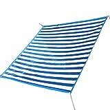WJX Sonnensegel Sonnensegel Net Scharf- UV Siebband Verstärkungsband Und Unterlegscheiben (Color : Blue and White - 3x4m)